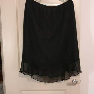 C.J. Banks by Christopher & Banks black skirt